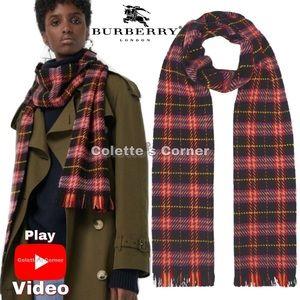 Burberry Multicolor Check Scarf Merino Wool